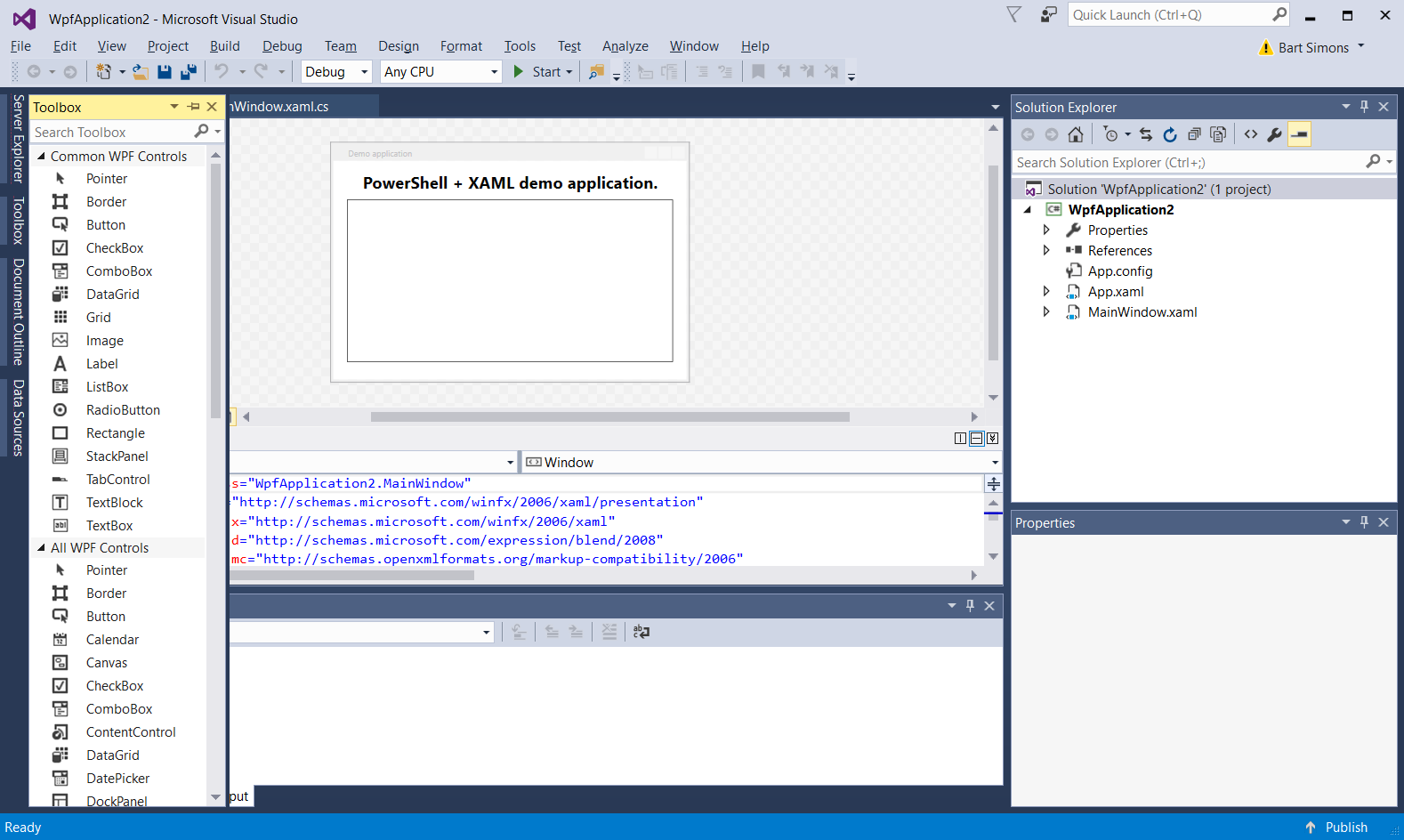 XAML Designer in VS